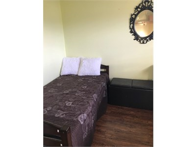Fully furnished, one bedroom available in a large 4-bedroom house.