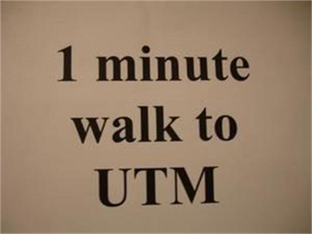 1 Minute WALK to UTM, Rent Near UTM, Live Near UTM